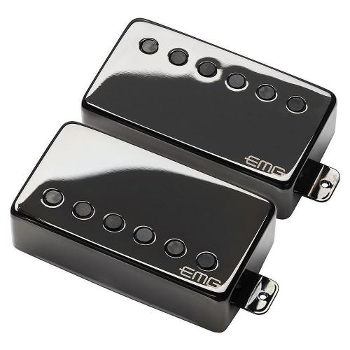EMG JH HET Set F-Spaced Black Chrome Guitar Pickups