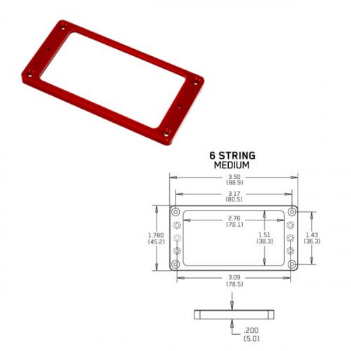 EMG Flat 6 Medium Red Pickup Ring