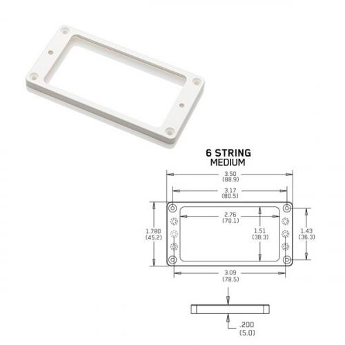 EMG Flat 6 Medium White Pickup Ring