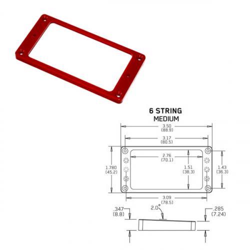 EMG Tapered 6 Medium Red Pickup Ring
