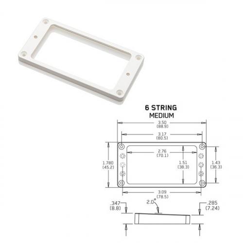EMG Tapered 6 Medium White Pickup Ring