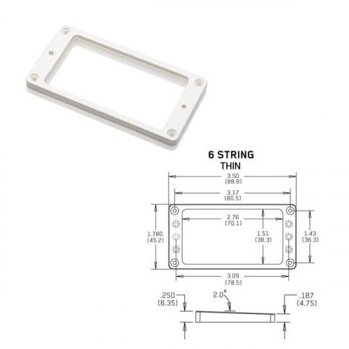 EMG Tapered 6 Thin White Pickup Ring