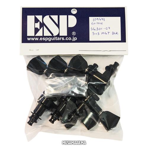 ESP Gotoh Magnum Lock Trad 3+3 Black Machine Heads