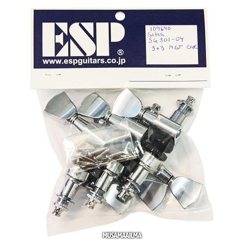 ESP Gotoh Magnum Lock Trad 3+3 Chrome Machine Heads