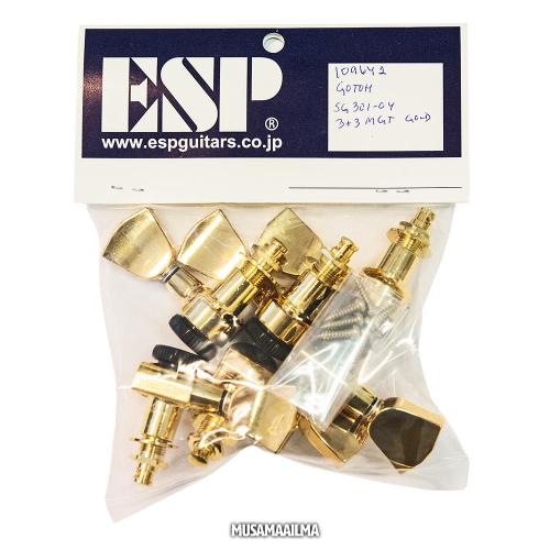 ESP Gotoh Magnum Lock Trad 3+3 Gold Machine Heads