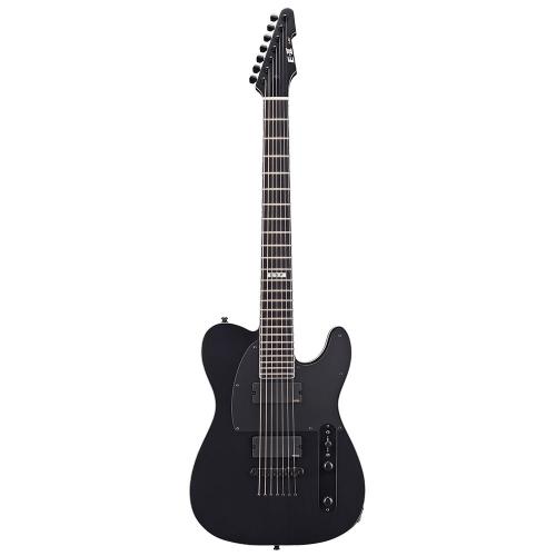 ESP E-II T-B7 Black Satin 7-String Electric Guitar