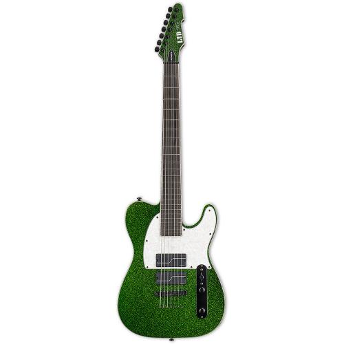 ESP LTD SCT-607 Baritone Green Sparkle 7-String Electric Guitar