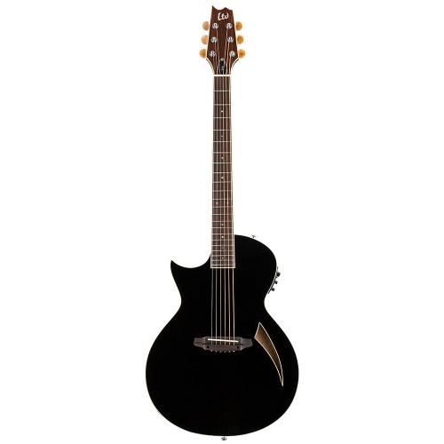 ESP LTD TL-6 LH Black Left-Handed Electric-Acoustic Guitar