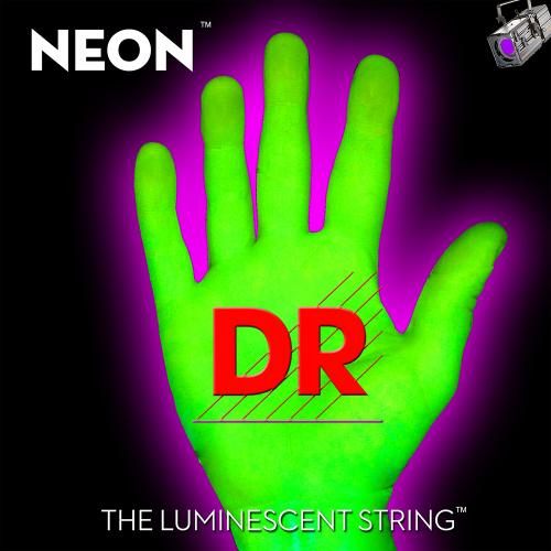 DR Strings K3 Neon Green NGB5-45 (45-125) 5-kielisen sähköbasson kielisetti