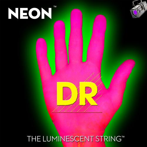 DR Strings K3 Neon Pink NPB5-45 (45-125) 5-kielisen sähköbasson kielisetti