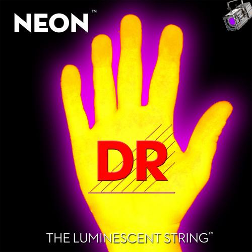 DR Strings K3 Neon Yellow NYB5-45 (45-125) 5-kielisen sähköbasson kielisetti