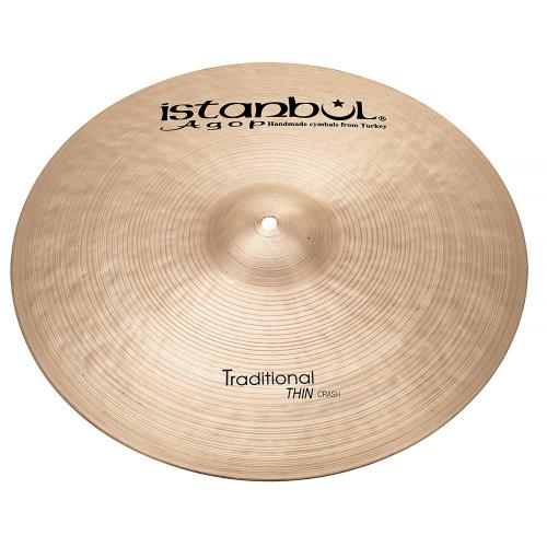 "ISTANBUL Traditional Thin Crash 17"" Cymbal"