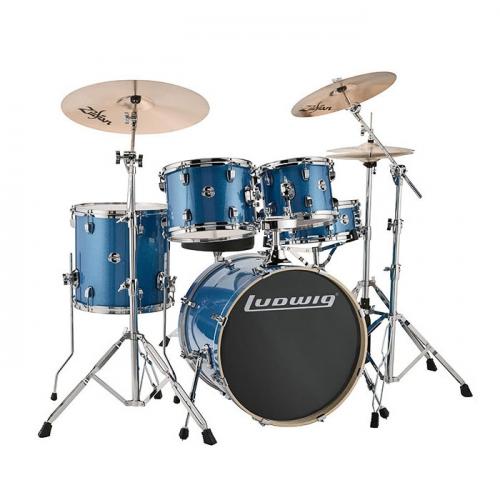 Ludwig Element Evolution 5pc 20 Blue Sparkle Drum Set