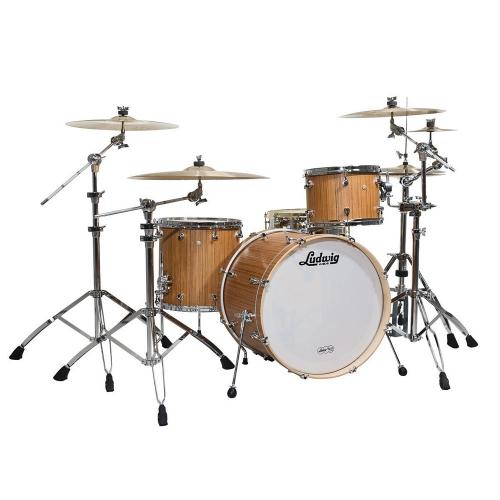 Ludwig Signet 105 Gigabeat Natural Indian Teak Drum Set