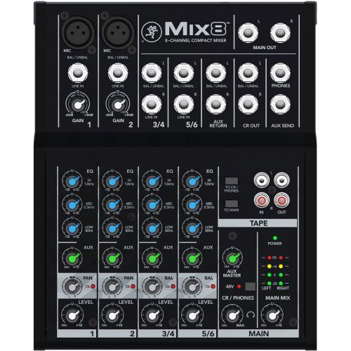 MACKIE MIX8 8-kanavainen kompakti mikseri