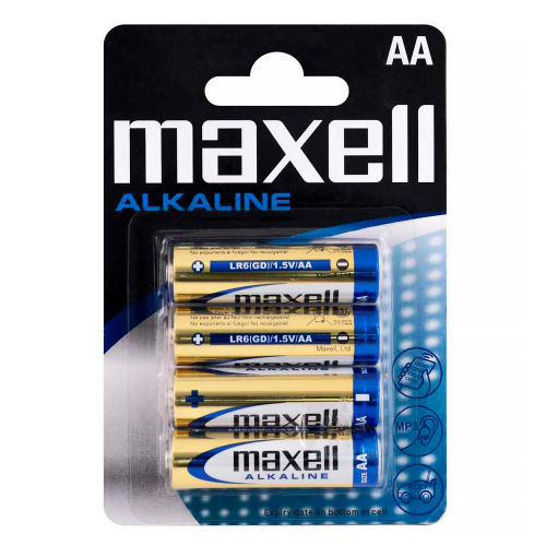 Maxell Alkaline AA Battery 4-Pack