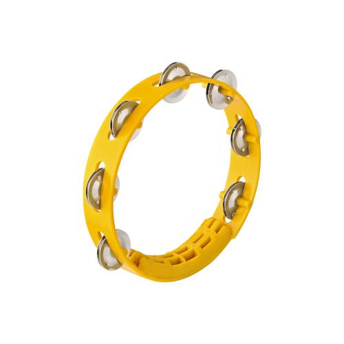 """NINO 49Y Tambourine 8"""", Yellow"""