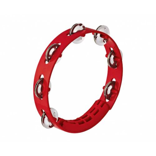 """NINO 49R Tambourine 8"""", Red"""