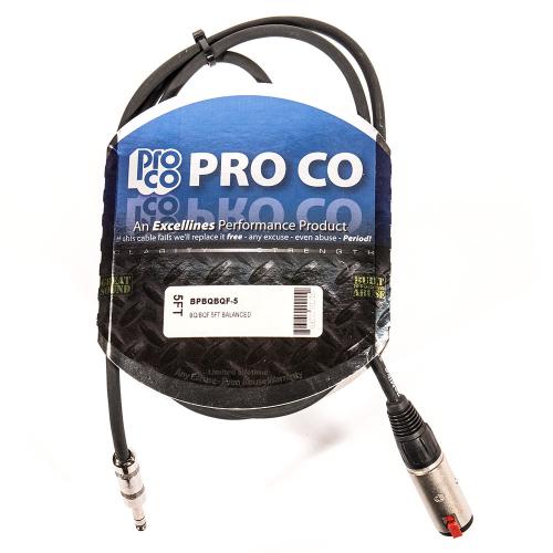 ProCo Excellines BPBQBQF-5 Balansoitu johto 1.5m