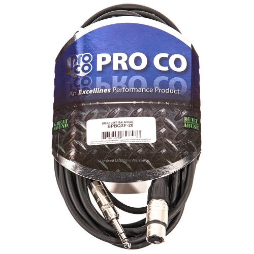 ProCo Excellines BPBQXF-20 Balansoitu johto 6m