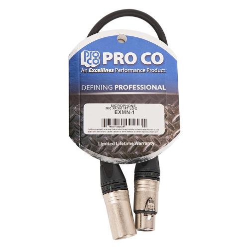 ProCo Excellines EXMN-1 Mikrofonijohto 0.30m