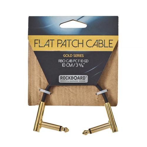 Rockboard F10 Flat Patch Gold Cable Välijohto 10cm