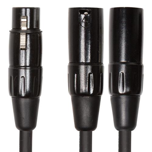 Roland RCC-YC-XF2XM Splitter Y liitäntäkaapeli 2x XLRM-XLRF 15cm