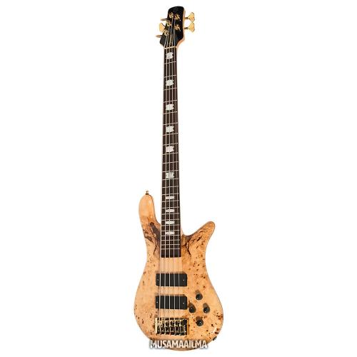 Spector Euro5 LX Bartolini Poplar Burl Natural Stain Gloss 5-String Electric Bass