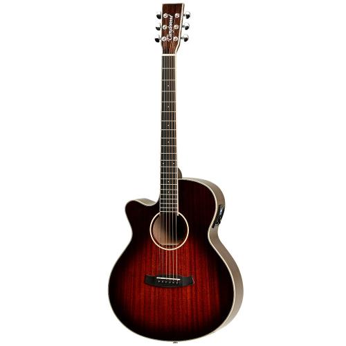 Tanglewood TW4 E Left Antique Violin Burst Vasenkätinen elektroakustinen kitara