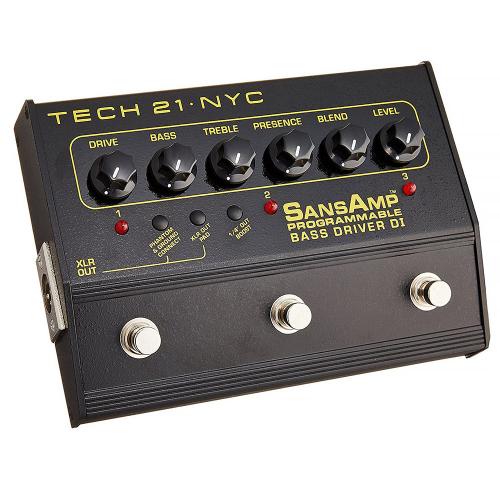 Tech 21 SansAmp Programmable Bass Driver DI Pedal