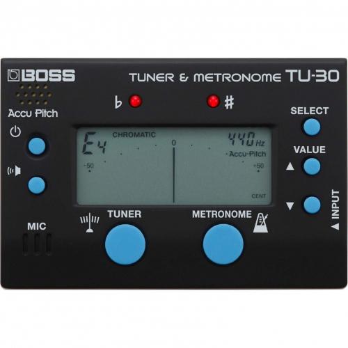 BOSS TU-30 kromaattinen viritysmittari - metronomi