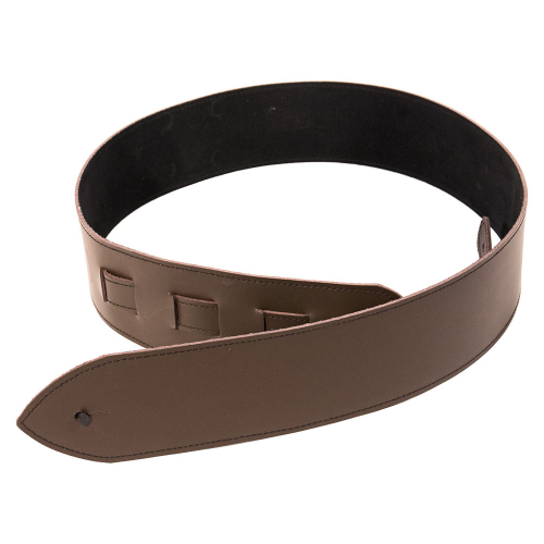 XF04 Brown Leather Guitar Strap with Lining 7.5cm