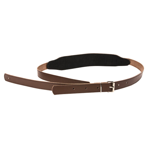 XF Vintage Brown Leather Guitar Strap