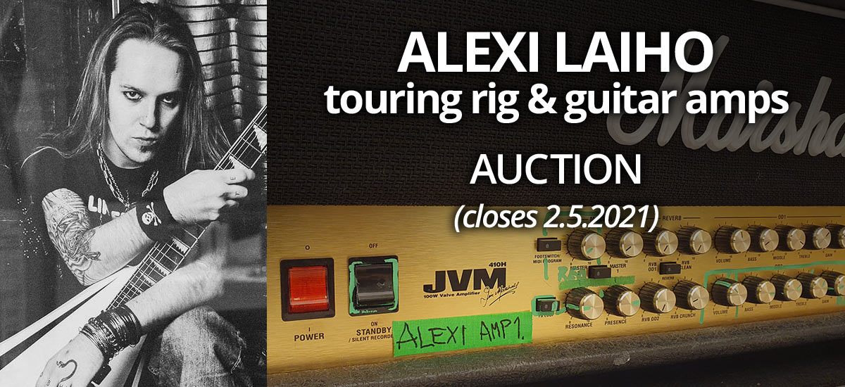 Alexi Laiho's Personally Owned Gear and Amps for Sale
