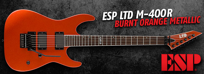 ESP LTD M-400R Burnt Orange Metallic