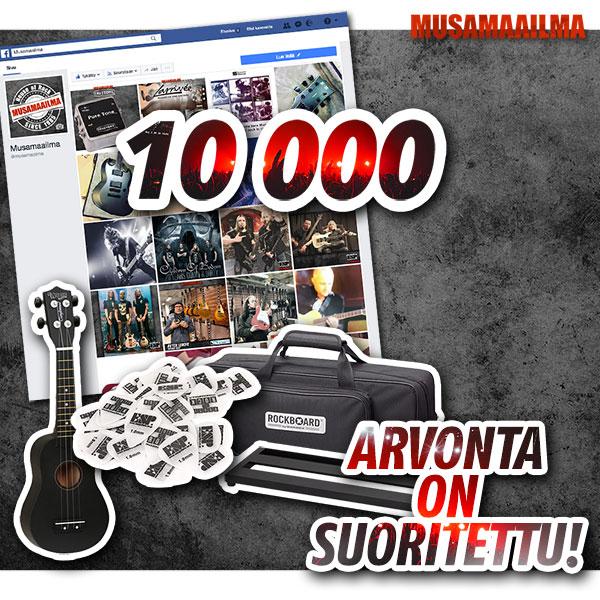 10 000 tykkääjää arvonta suoritettu
