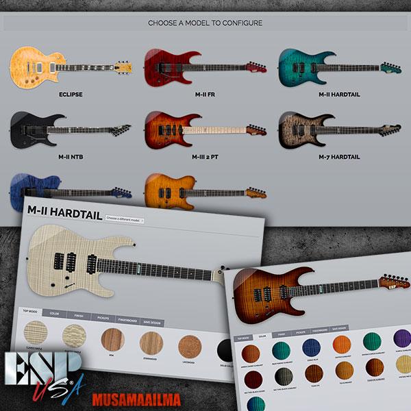 ESP USA Guitar Configurator 2017