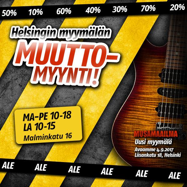 Helsingin myymälän muuttomyynti