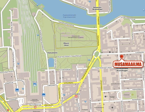 Musamaailma - Kartta