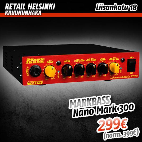 Avajaistarjous: Markbass Nano Mark 300 bassonuppi