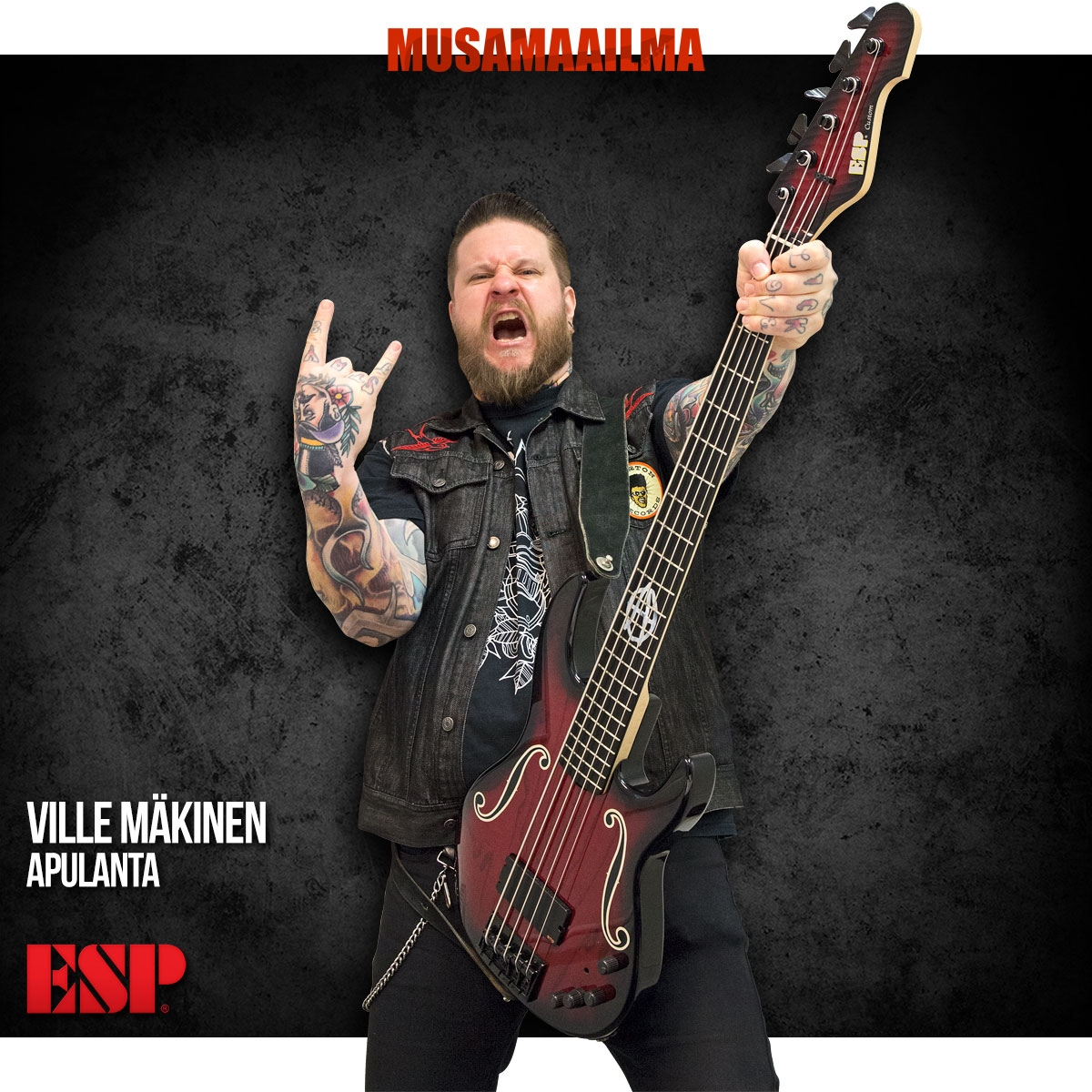 Ville Mäkinen, Apulanta - ESP Custom Shop