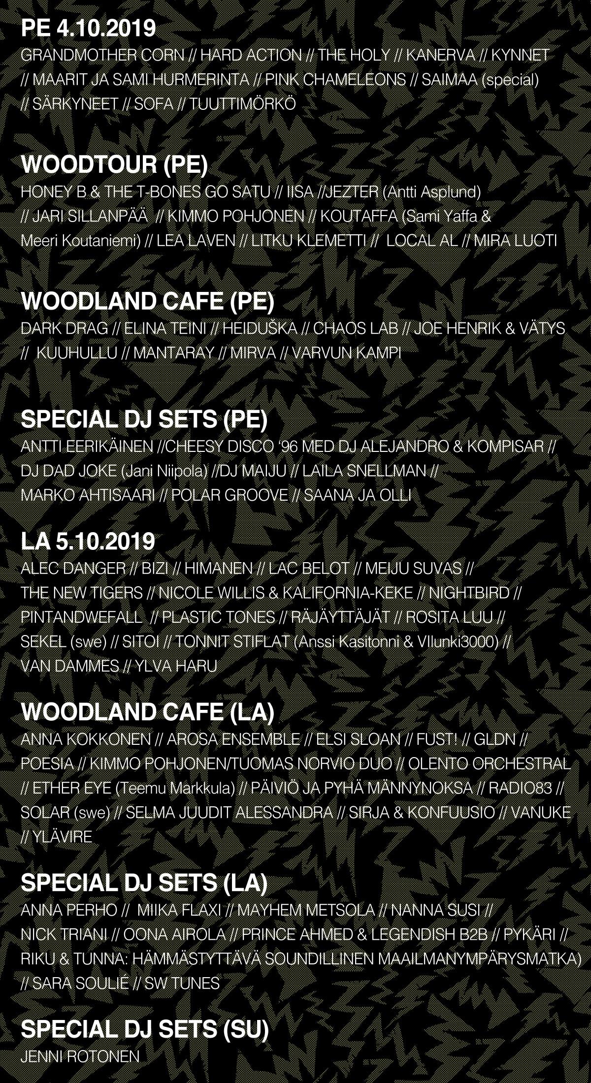 Superwood Festival 2019 esiintyjät