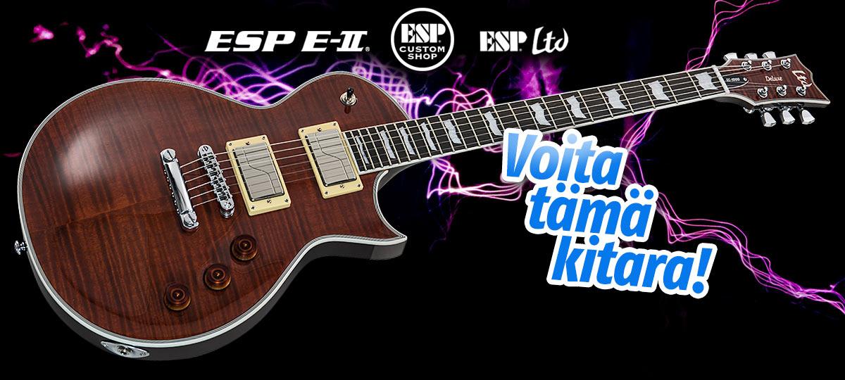 Voita ESP LTD EC-1000 Fluence Tiger Eye sähkökitara!