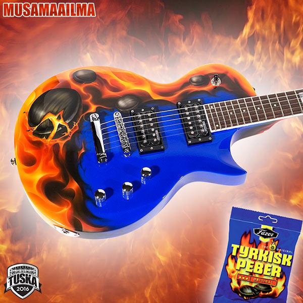 ESP LTD Tyrkirk Peber custom-maalauksilla