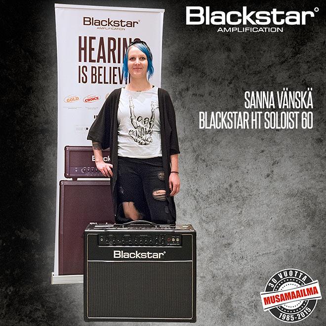 Blackstar-kilpailun voittaja Sanna Vänskä
