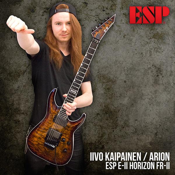 Iivo Kaipainen (Arion) ja uusi ESP E-II Horizon FR-II