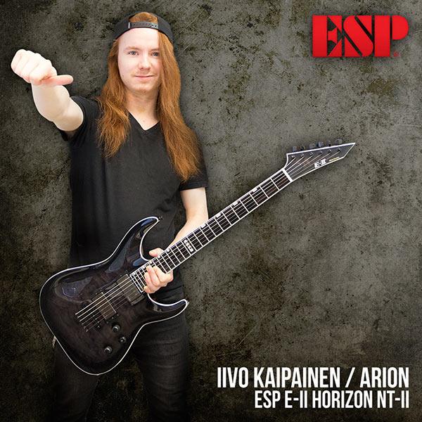 Iivo Kaipainen (Arion) ja uusi ESP E-II Horizon NT-II