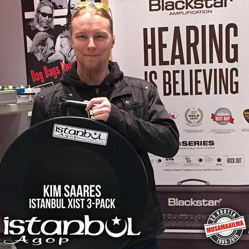 Istanbul-kilpailun voittaja Kim Saares ja XIST-symbaalipaketti