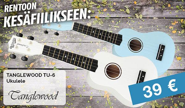 Rentoon kesäfiilikseen: Tanglewood ukulele 39€