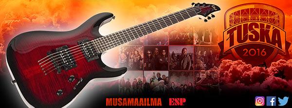 Musamaailma & ESP Guitars Tuska 2016 -tapahtumassa